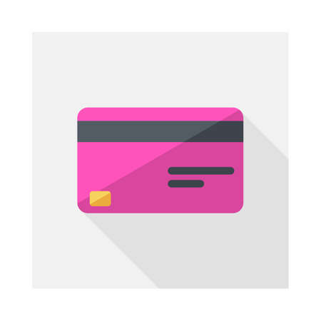 Credit card Pink icon vector isolated.