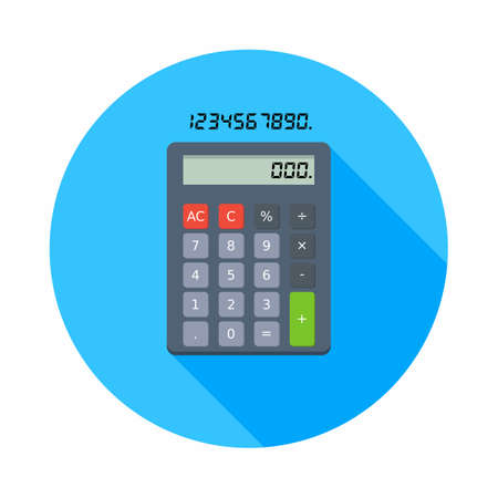 Calculator and Digital number icon vector isolated.