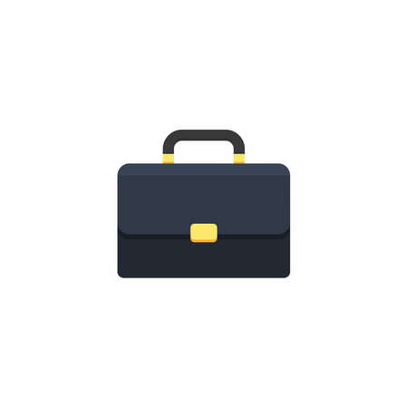 Briefcase White Background icon vector isolated. Flat style vector illustration.