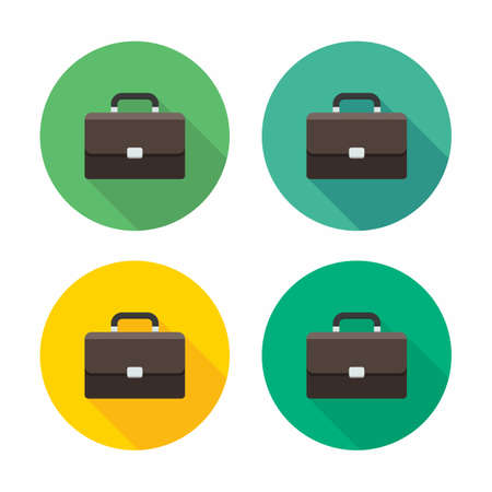 Briefcase icon vector isolated. Flat style vector illustration. Vetores