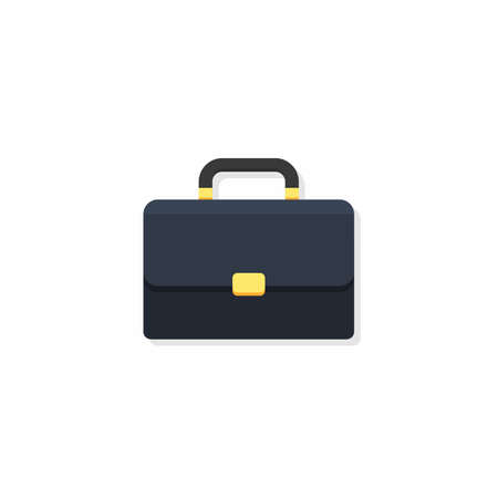 Briefcase Shadow vector isolated. Flat style vector illustration.