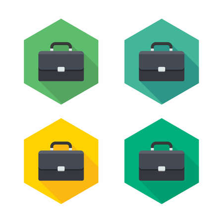 Briefcase icon vector isolated. Flat style vector illustration.