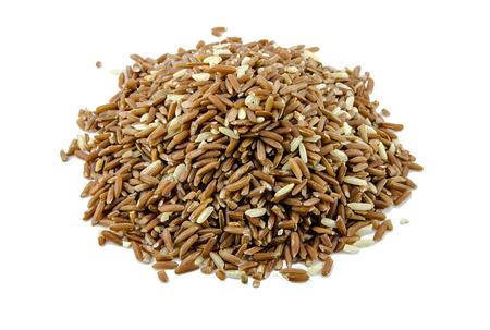 coarse: coarse rice on white background