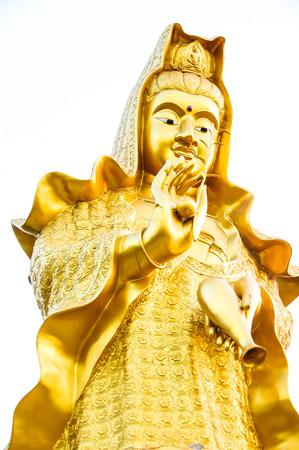 golden goddess of mercy statue