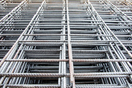steel mesh used to make reinforced concrete photo