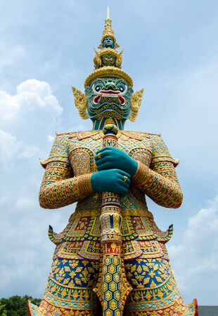 huge statue of a thai giant