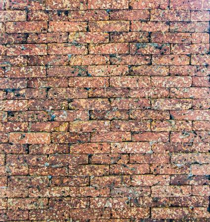 Orange brick wall Banco de Imagens