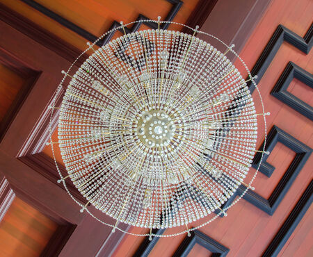 a chinese style lamp on ceiling