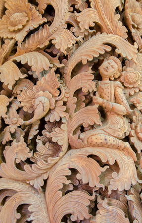 Wood carving Thailand Art