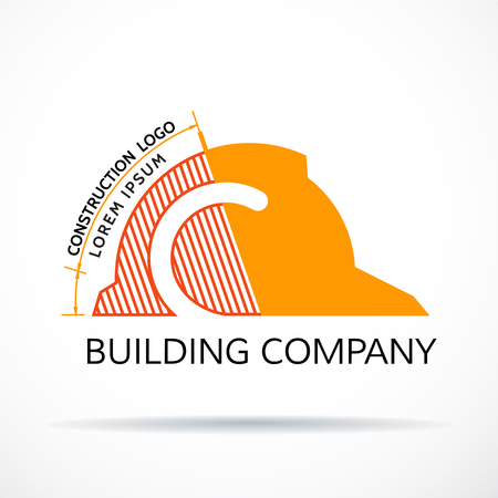 Building logo, construction working industry concept.