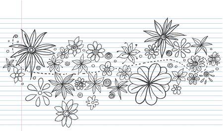 Flowers Doodle Vector