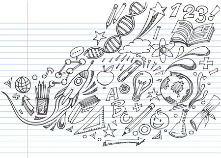 Creative art doodles hand drawn Design illustration. Ilustração