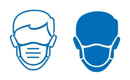 wear face mask stop coronavirus preventive measures COVID-19 cover face nose sign,wear face mask vector icon design