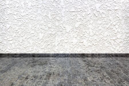 White wall concrete and floor made for cement.