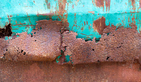 The steel plate is corroded because it is affected by rust. Zdjęcie Seryjne
