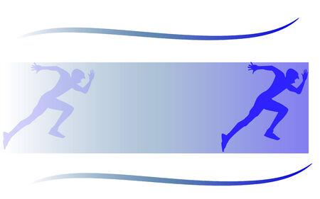 Background of running men Vector