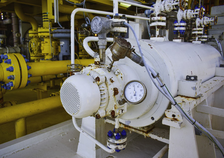Temperature gauge,Temperature transmitter sensor and vibration sensor on NDE side of centrifugal pump.
