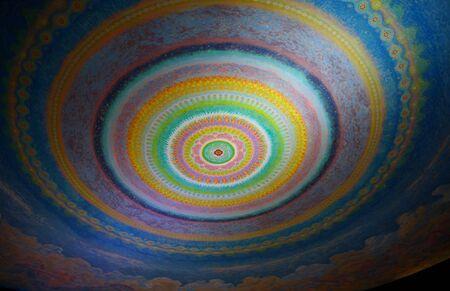 ceiling: art on  ceiling