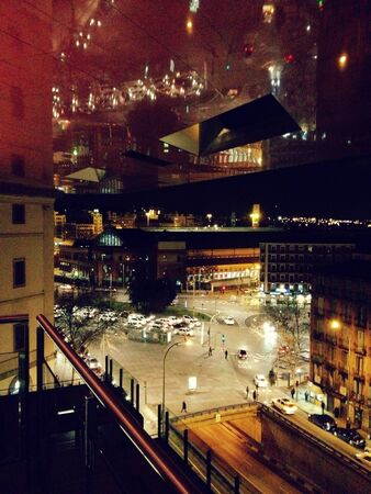 Street of madrid by night Stockfoto