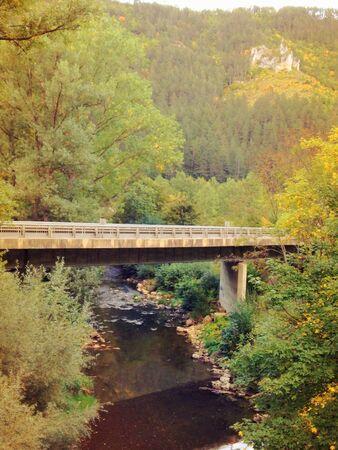 Bridge over a river, France