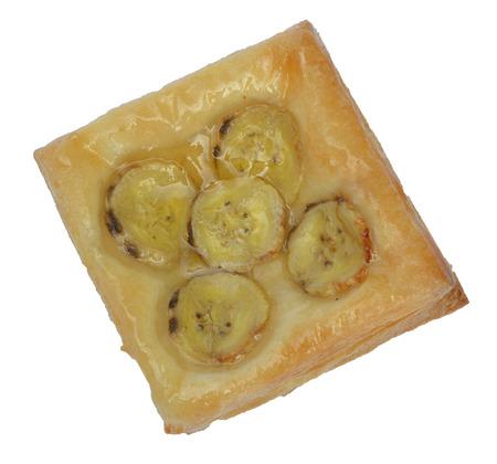 banana Danish or Banana Pie Stock Photo
