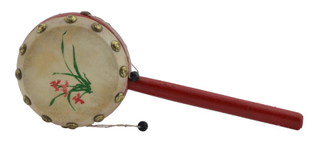 chinese drum: Chinese Old Wooden Rattle Drum Hand