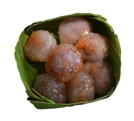 Thailand dessert(kanom Sago) Stock Photo