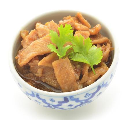 Fried sweet pork Stock Photo - 22993650