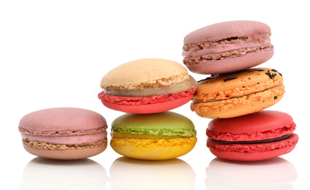 colorful macarons photo