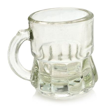 Beaker isolated on white  photo