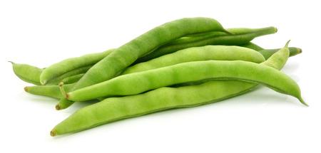 green beans on white background Stock Photo