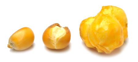 Popcorn isolated on white background photo