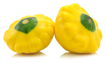 Sommer Squash isolated on white Stock Photo