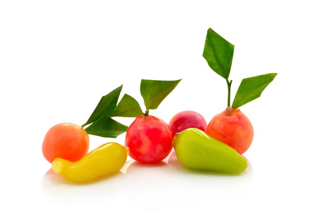 Deletable imitation fruits-Traditional Thai Dessert made from nut