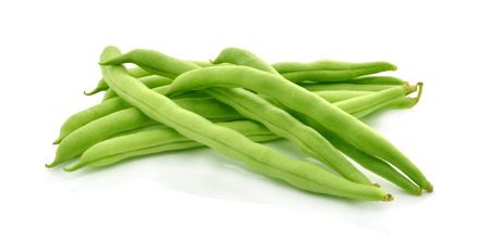gr�ne bohnen: green beans on white background Lizenzfreie Bilder