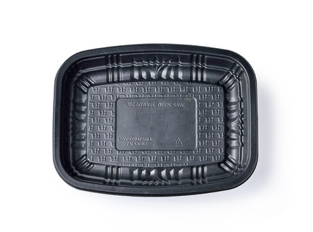 biodegradable: Biodegradable tray Microwave on white background