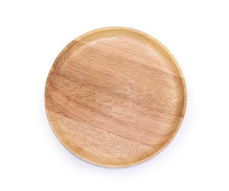 houten plaat op een witte achtergrond Stockfoto