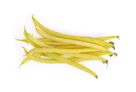 french bean: French bean on white background