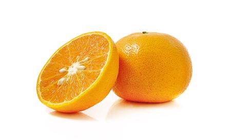 tangerine or mandarin isolated on white background Stock Photo