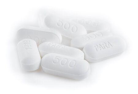 medicaid: paracetamol 500 milligram on white background