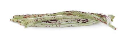 string bean on white background Stock Photo