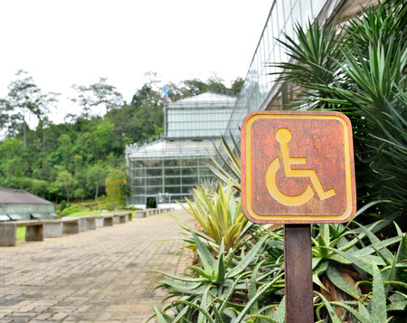 disabled sign: Disabled sign in the park