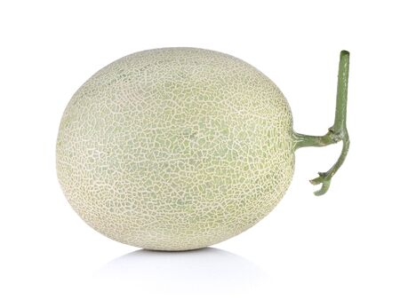 cantaloupe melon on white backgroung