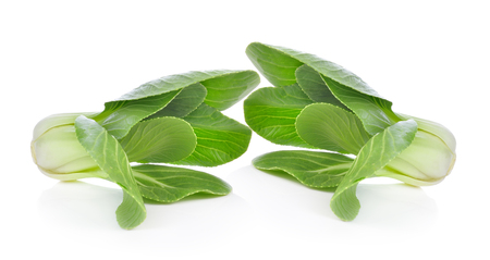 Bok choy (chinese cabbage) on white background