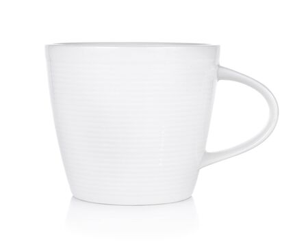 Empty coffee cup on white background Stock Photo