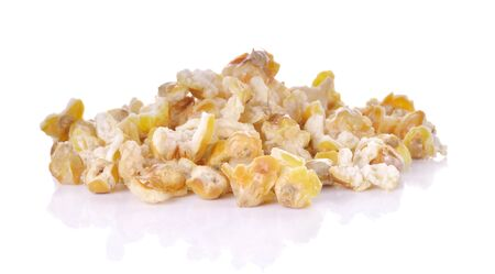 Thai popcorn on white background