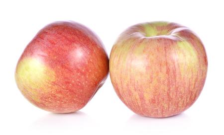 Fresh Fuji apple isolated on white background