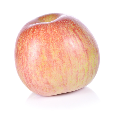 Fresh Fuji apple isolated on white background