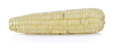 Corn boiled?s Thailand on white brackground