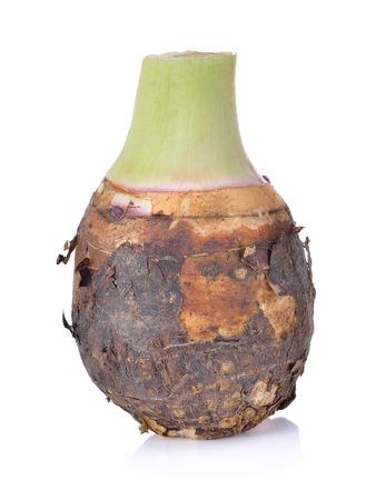 fresh taro isolated on white background Stock Photo